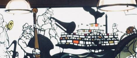 銅羅ステンドグラス